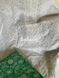 Swiss voile kurta dupatta ( Dupatta is optional, to be purchased separately)