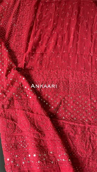 Semi pure georgette Dupatta