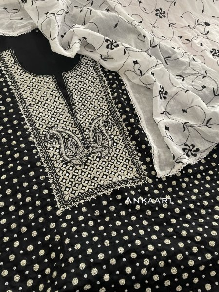 Pure Mulmul cotton kurta,dupatta